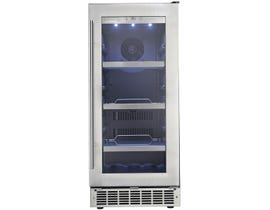 Silhouette 15 inch 3.1 cu.ft single zone beverage center in stainless DBC031D1BSSPR