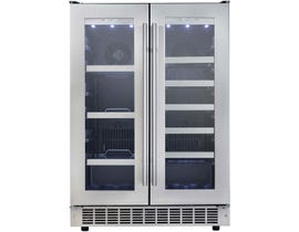 Silhouette Lorraine 24 inch 4.7 cu.ft french door beverage centre in stainless DBC047D2BSSPR
