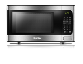 Danby 19 inch 0.9 cu.ft. Countertop Microwave Oven in Stainless Steel DBMW0924BBS