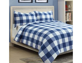 Millano Collection Millano Oxford Navy 3 Piece Duvet Cover Set DE-OXDNY