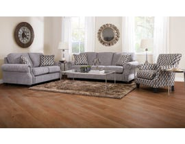 Decor-Rest Rico Fabric 3-Piece Sofa Set with Accent Chair in Grey 2279