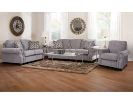 Decor-Rest Rico Collection 3-Piece Fabric Sofa Set in Grey 2279
