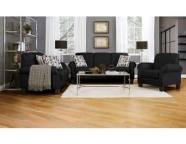 Décor-Rest Joey Sky Collection Fabric 3Pc Sofa Set in Mellow Black/Forsyntia Yellow 2025
