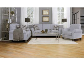 Décor-Rest Joey Sky Collection Fabric 3Pc Sofa Set in Hot Grey/ Quartz Grey 2025