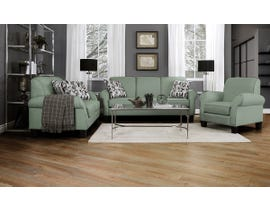 Décor-Rest Joey Sky Collection Fabric 3Pc Sofa Set in Misty Moss/Treehouse Turquois 2025