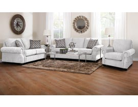 Decor-Rest Rico Collection 3Pc Fabric Sofa Set in Hot Ivory/Hedge Oreo 2279