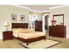 Flair Desoto Series 6pc Bedroom Set in Walnut