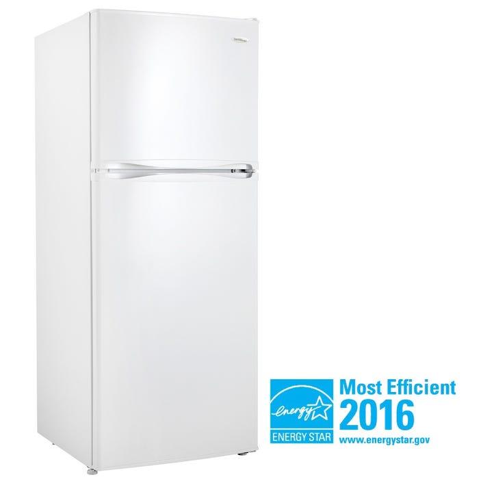 Danby Designer 24 inch 10.0 cu.ft. apartment size refrigerator in white DFF100C2WDD