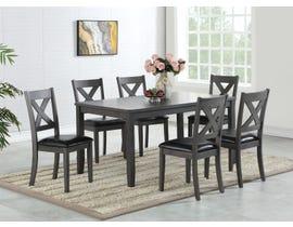 Brassex Gabriel Collection 7-Piece Wood Dining Set in Grey TN-276