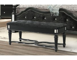 Global Furniture Diana Black Bench BL-BE