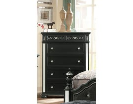 Global Furniture Diana Black Chest BL-CH