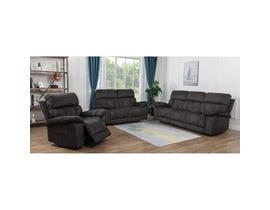 Dillon Series 3Pc Fabric Sofa Set in Dark Brown