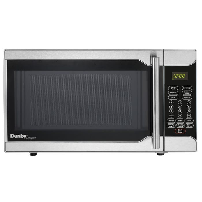 Danby Designer 18 inch 0.7 cu.ft. counter top microwave in stainless steel DMW07A2SSDD