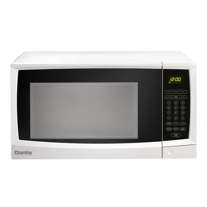 Danby 21 1/4 inch 1.1 cubic feet counter top Microwave in white DMW1110WDB