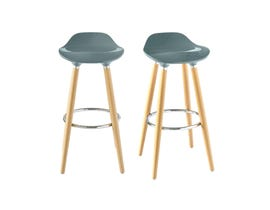 High Society Donatello Series Bar Stools in Grey (Set of 2) BDL900BSE