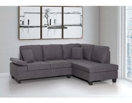 PR Furniture Dorrian Series 2 PC Sectional in Cement 4460