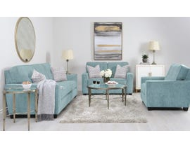 Decor-Rest Rico Collection 3pc Sofa Set in Maxie Sky 2967