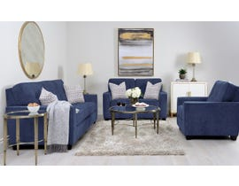 Decor-Rest Rico Collection 3pc Sofa Set in Pier Navy 2967