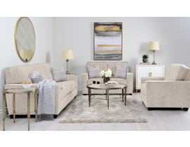 Decor-Rest Rico Collection 3pc Sofa Set in Pier Taupe 2967