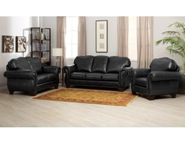 Decor-Rest 3pc Leather Sofa Set in Metro Onyx 3933