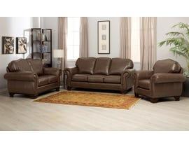 Decor-Rest 3pc Leather Sofa Set in Saddle Whiskey 3933