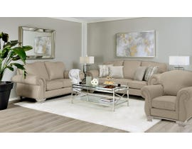 Decor-Rest 3pc Fabric Sofa Set in Nation Camel 6933