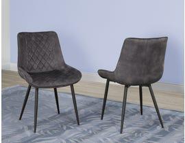 Brassex Fabian Series Dining Chair (Set of 2) in Dark Grey DRC-2002