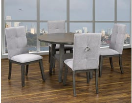 Kwality Sandra Series 5pc Round Dining Set in Grey DRT-5163