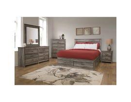 Modern Furniture 6 Piece Suede Grey Queen Bedroom Set 6720
