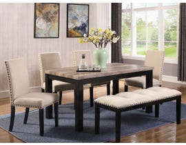 K Living 6 Piece Elisa Regular Dining Table Set DT1136PCS