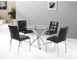 K Living 5 Piece Weston Dining Set in Black DT-811
