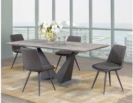 Caden Series 5-Piece Dining Set in Grey DT1360-5