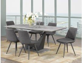 Caden Series 7- Piece Dining Set in Grey DT1360-7