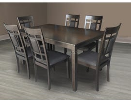 Kwality Furniture Viola Series 7pc Dining Set in Grey DTS-360-GR