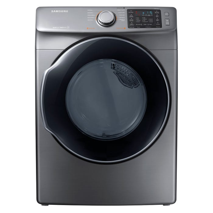 Samsung 27 inch 7.5 cu. ft. Electric Steam Dryer Platinum DVE45M5500P