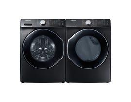 Samsung front load steam laundry pair WF45N6300AV/DVE45N6300V BLACK STAINLESS