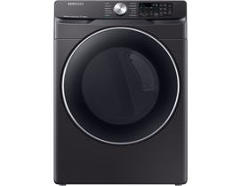 Samsung 7.5 cu. ft. Smart Electric Dryer with Steam Sanitize+ in Black Stainless Steel DVE45R6300V