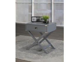 Brassex Soho Collection Cross Base Wood Accent Table in Grey 171010