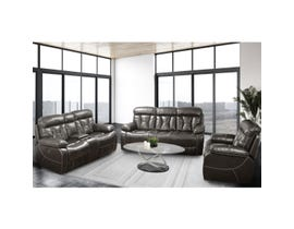 Pelican Series 3pc Leather Air Reclining Sofa Set in Dark Brown 70250