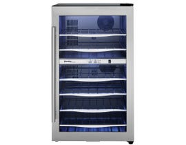 Danby Designer 20 inch 4 cu. ft. 38 Bottle Wine Cooler with Glass Door in Stainless Steel DWC040A3BSSDD