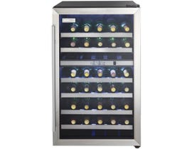 Danby Designer 20 inch 4.0 cu.ft 38 bottle wine cooler in black stainless DWC114BLSDD