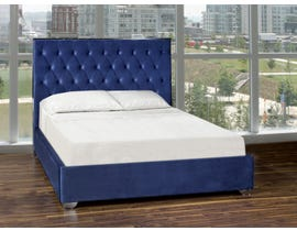 K Living Zane Series Upholstered Queen Bed in Blue DZ190320