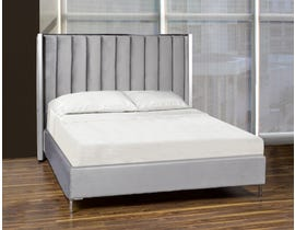 K Living Toby Series Upholstered Queen Bed in Grey DZ632