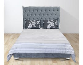 K Living Zane Series Upholstered Queen Bed in Grey DZ190320-QB-GR