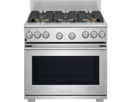 "Electrolux 36"" 6.4 cu. ft. ICON® Dual-Fuel Freestanding Range in Stainless Steel E36DF76TPS"