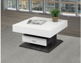Brassex Rotating Coffee Table in White 226-02
