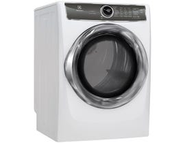Electrolux 27 inch 8.0 cu. ft. Front Load Perfect Steam Electric Dryer with Instant Refresh in White EFMC627UIW