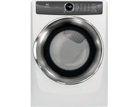 Electrolux 27 inch 8.0 cu. ft. Perfect Steam Gas Dryer with Instant Refresh in White EFMG527UIW