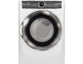 Electrolux 27 inch 8.0 cu. ft. Front Load Perfect Steam Gas Dryer with Instant Refresh in White EFMG627UIW