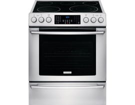 "Electrolux 30"" 4.6 cu. ft. Front Control Freestanding Electric Range in Stainless Steel EI30EF4CQS"